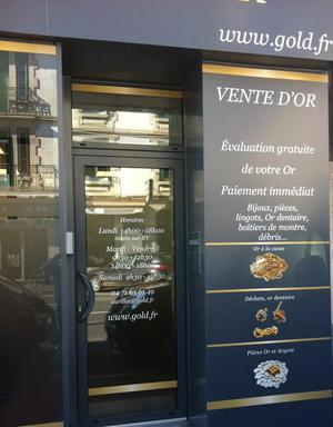 Achat Or & Vente d'Or Aurillac 15000 Devanture d'Or à Aurillac Devanture Comptoir National de l'Or Aurillac