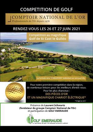 Compétition de Golf Comptoir National de l'or - 26 et 27 juin Compétition de Golf Comptoir National de l'or - 26 et 27 juin