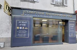 Achat Or & Vente d'Or Aurillac 15000 - Devanture Comptoir d'achat et de vente d'Or de Aurillac - Devanture