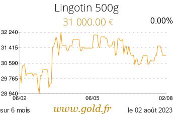 Cours Lingotin 500g