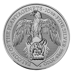 Queen's Beasts 10 Oz Falcon 2020