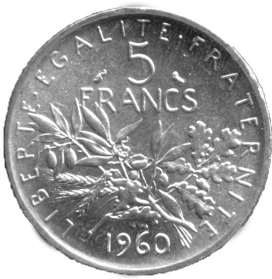 5 Francs Semeuse en Argent
