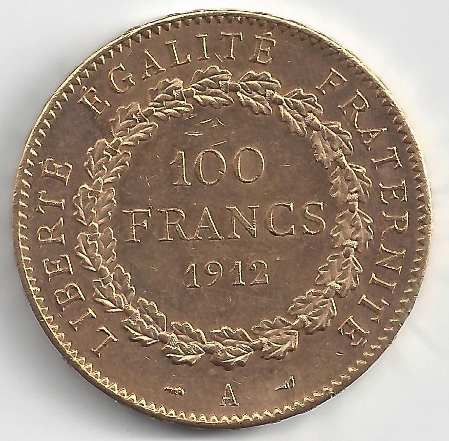 Napoléon 100F Génie en Or