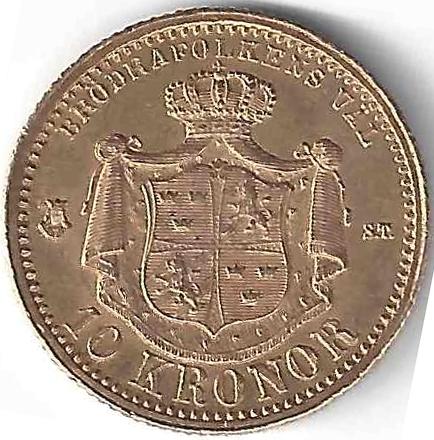 10 Kronor en Or