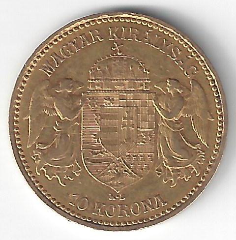 10 Korona Franz Joseph I en Or