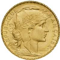 Napoléon 20 Frs Or Marianne en Or