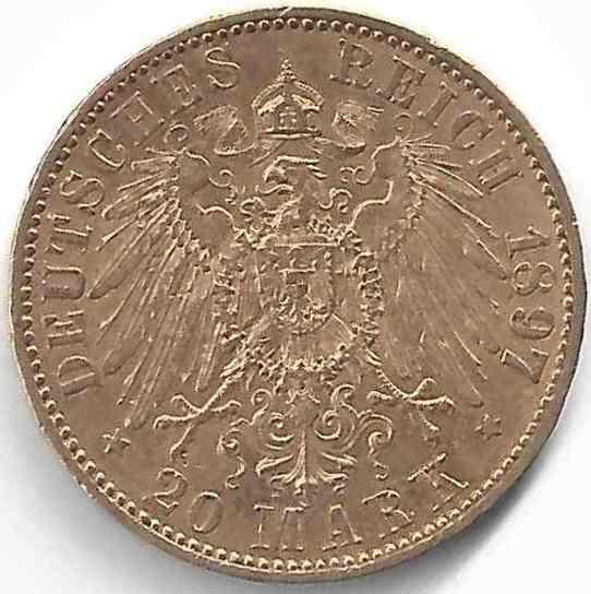 20 Mark Wilhelm II en Or