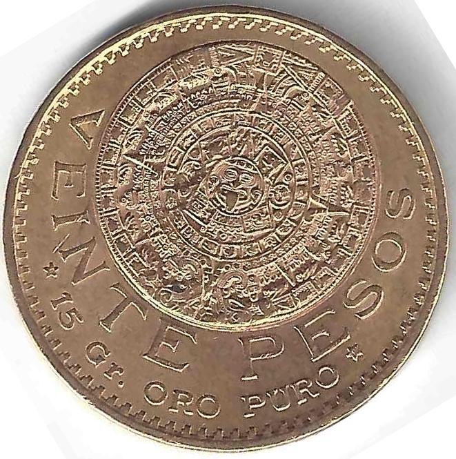 20 pesos en Or