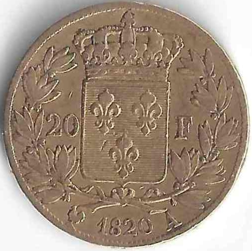 Louis XVIII 20 Francs en Or