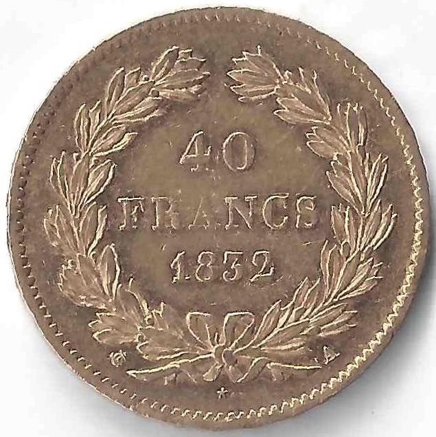 40 Francs Louis Philippe I en Or