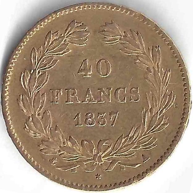 40 Francs or en Or