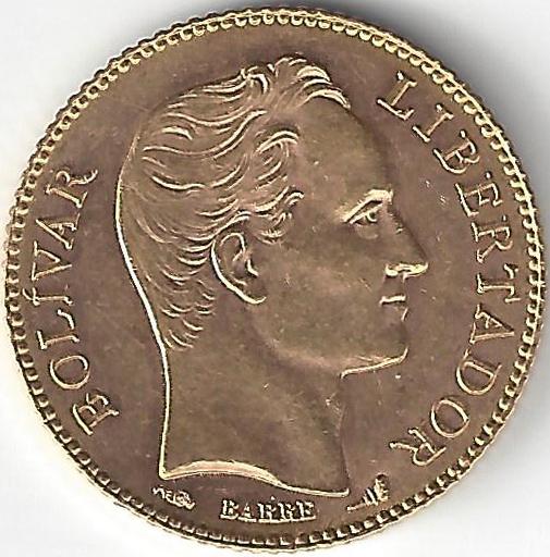 20 Bolivares en Or