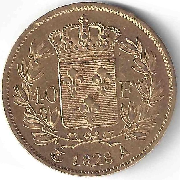 Charles X 40 Frs en Or