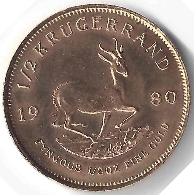 1/2 Krugerrand en Or