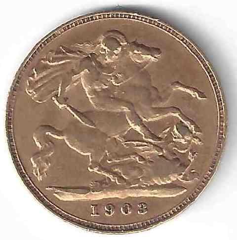 Demi Souverain Edouard VII en Or