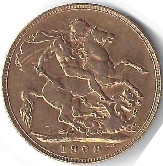 Souverain Edouard VII en Or