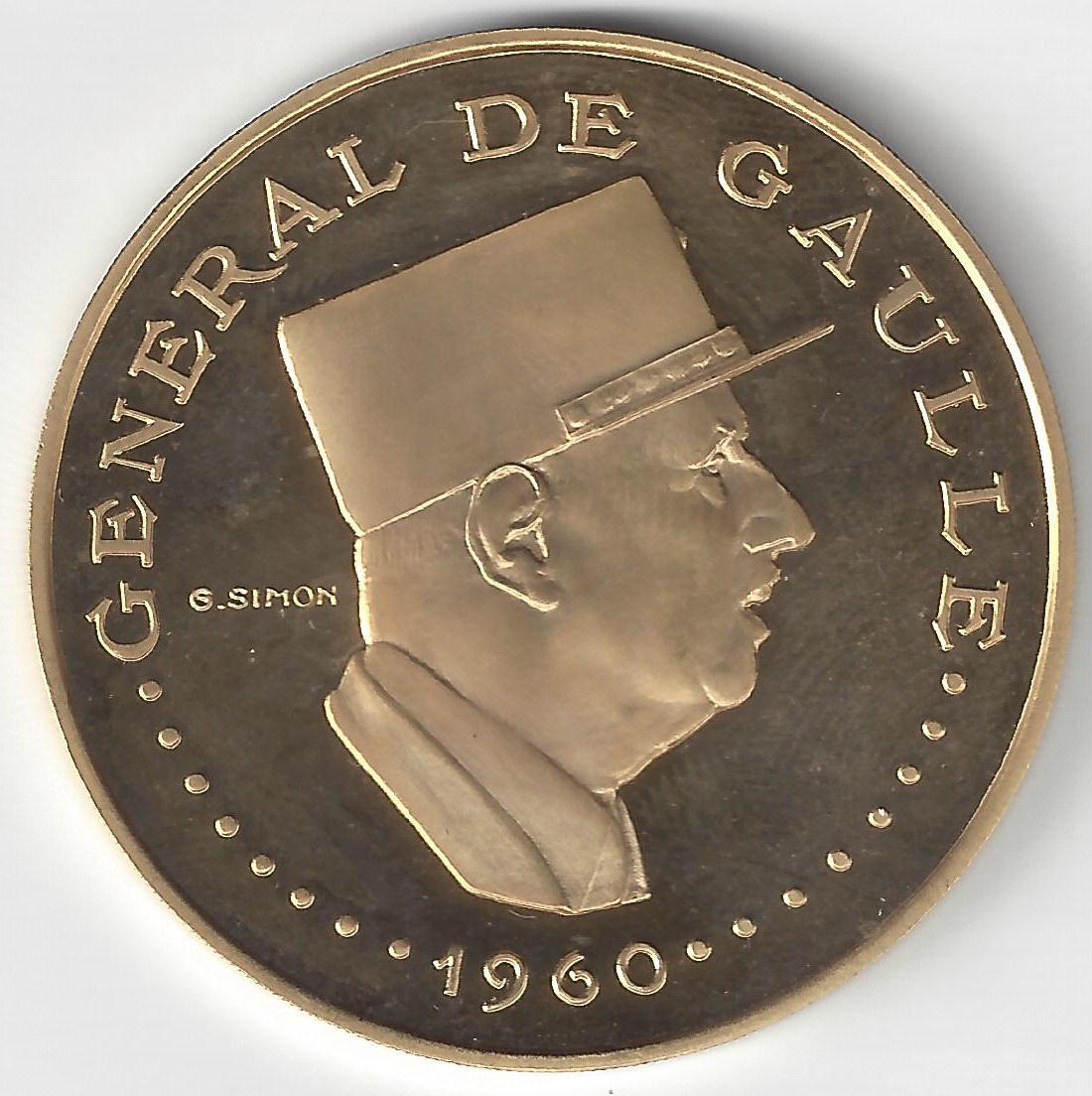 10000 Frs Charles de Gaulle en Or