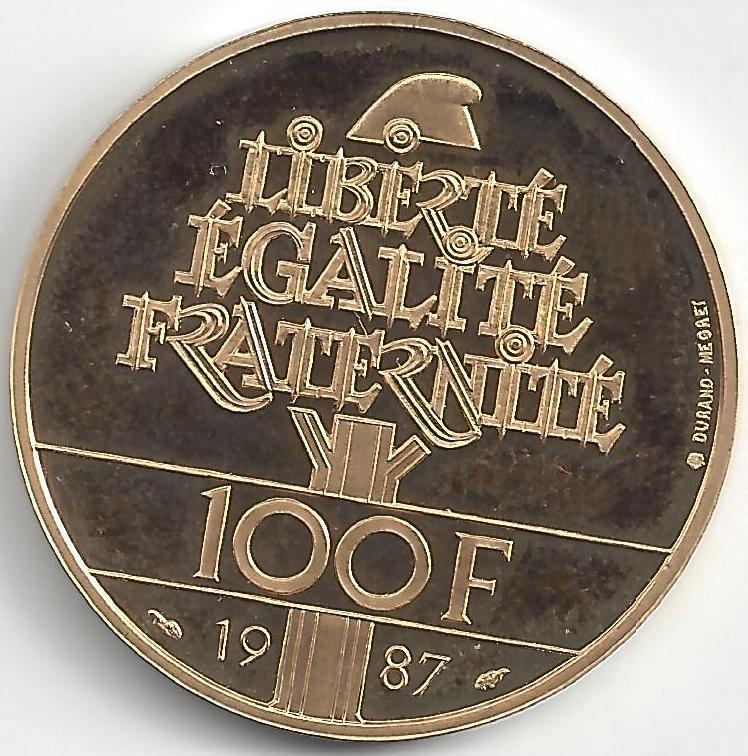 100 Francs or Général Lafayette  en Or
