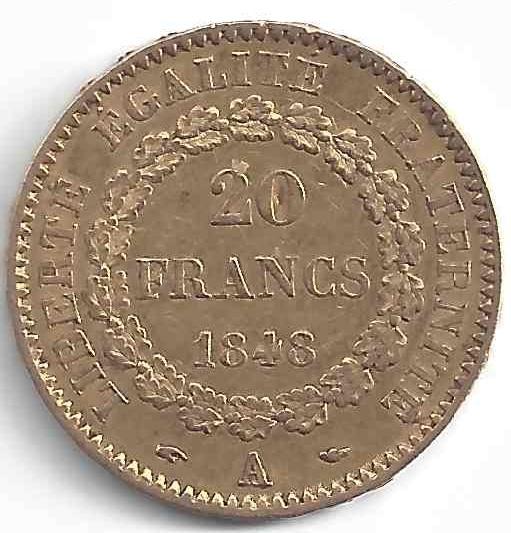 Napoléon 20 Francs Génie en Or