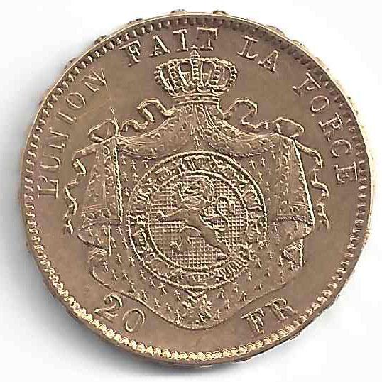 Léopold 20 Francs en Or