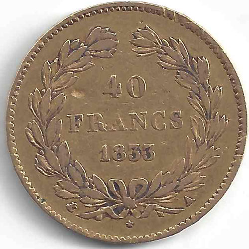 Louis Philippe I 40 Francs en Or