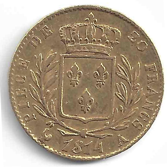 Louis XVIII en Or
