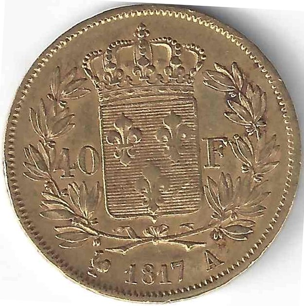 Louis XVIII 40 Francs en Or