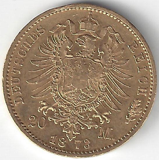 20 Mark Ludwig III en Or