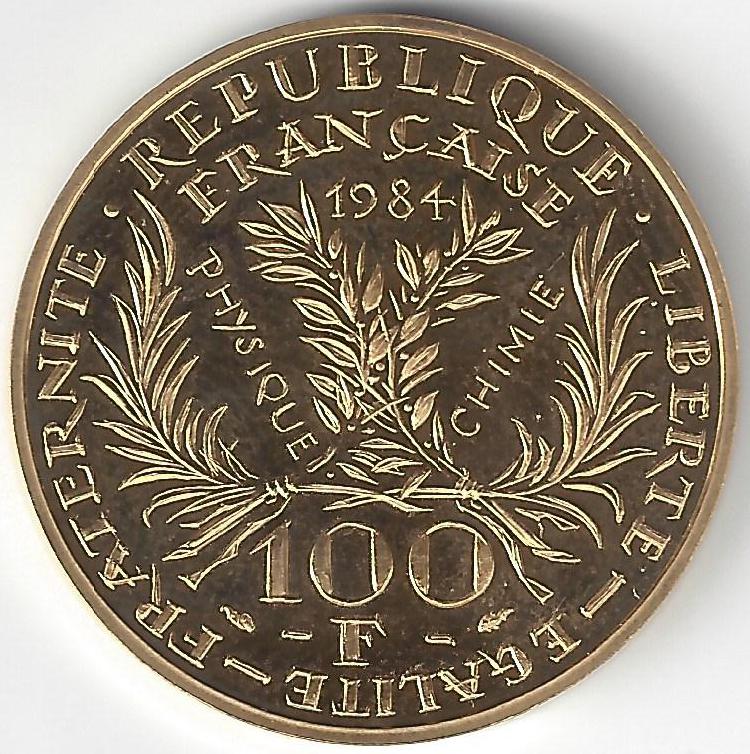 100F or Marie Curie en Or