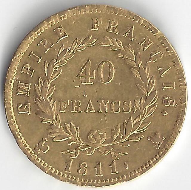 Napoléon 40 Frs en Or