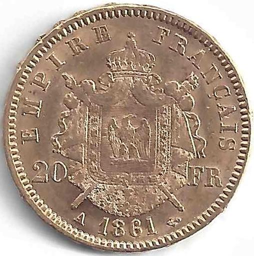 Napoléon III 20Frs en Or