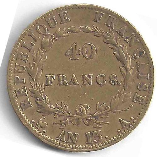 Napoléon 40 Francs en Or