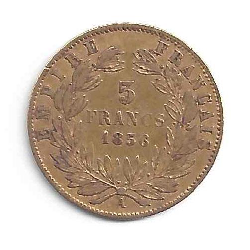 Napoléon III 5Frs en Or