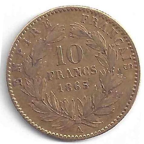 Napoléon III 10Frs en Or