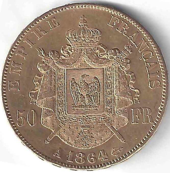 Napoléon III 50 Francs en Or