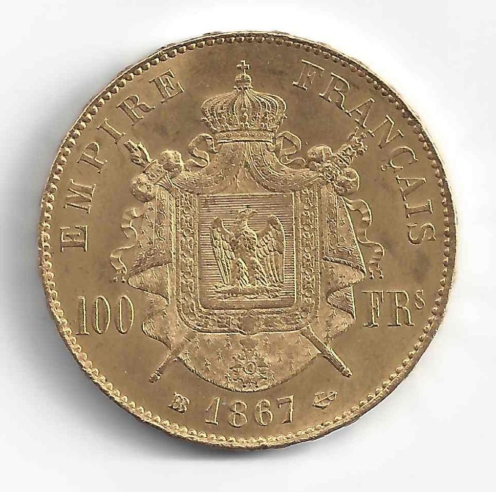 Napoléon III 100Frs en Or