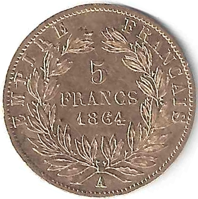 Napoléon III 5 Frs en Or