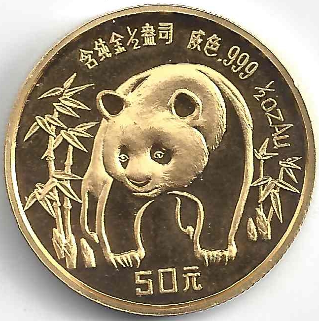 50 Yuan en Or