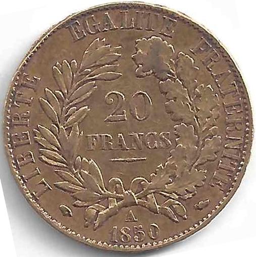 Napoléon 20 Francs Cérès en Or