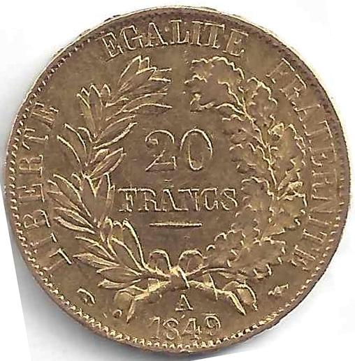 20 Francs Or Cérès en Or