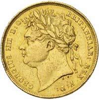 Souverain Or Georges IV Tête Laurée en Or