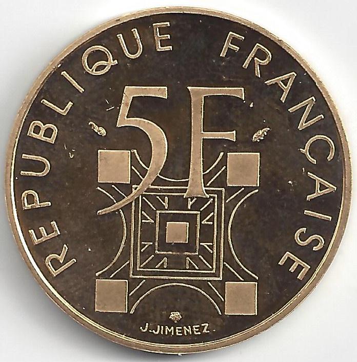 5 Frs - Tour Eiffel en Or