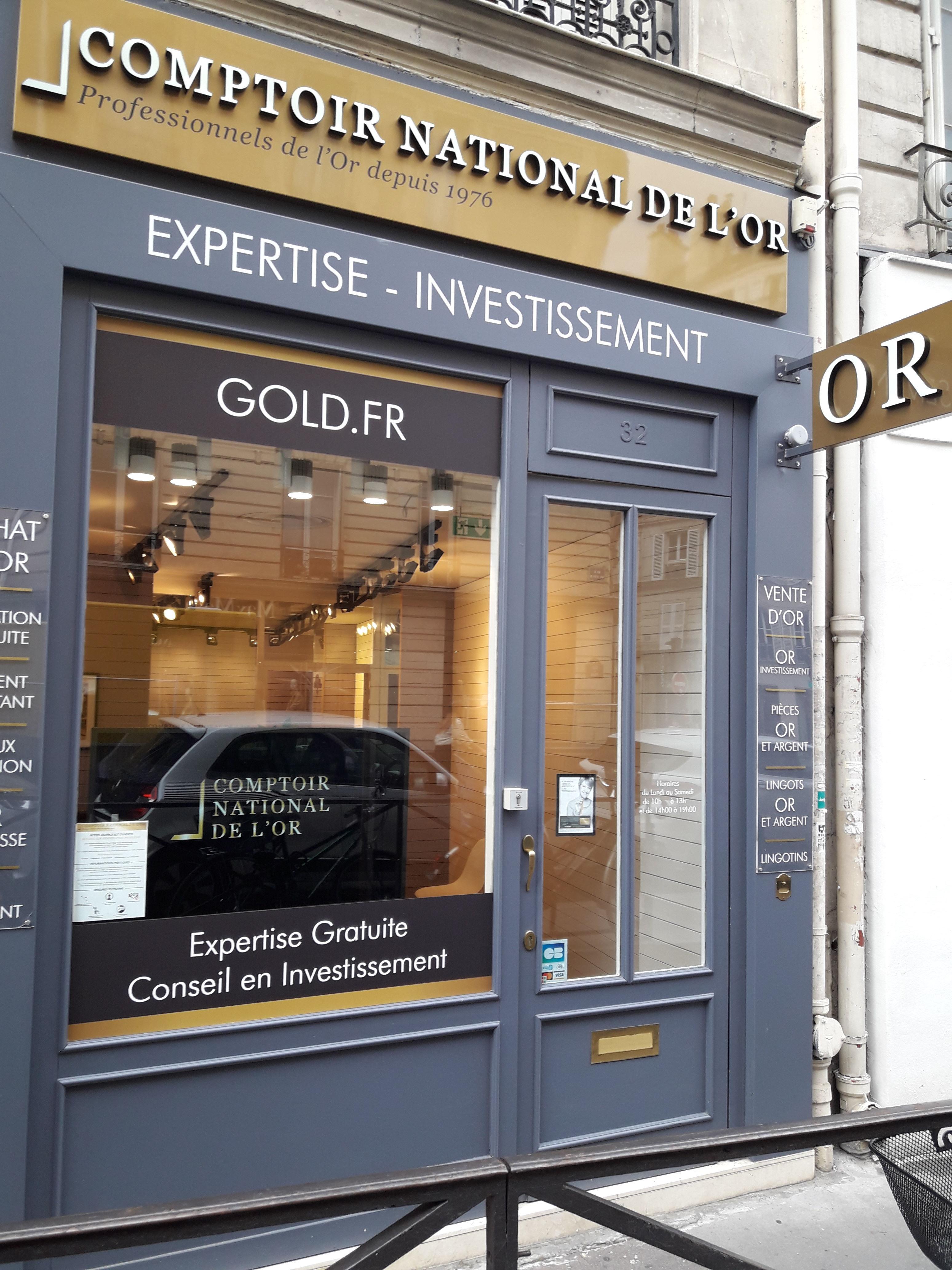 Nos meilleurs comptoirs d'achat d'Or à proximité de Paris 75007