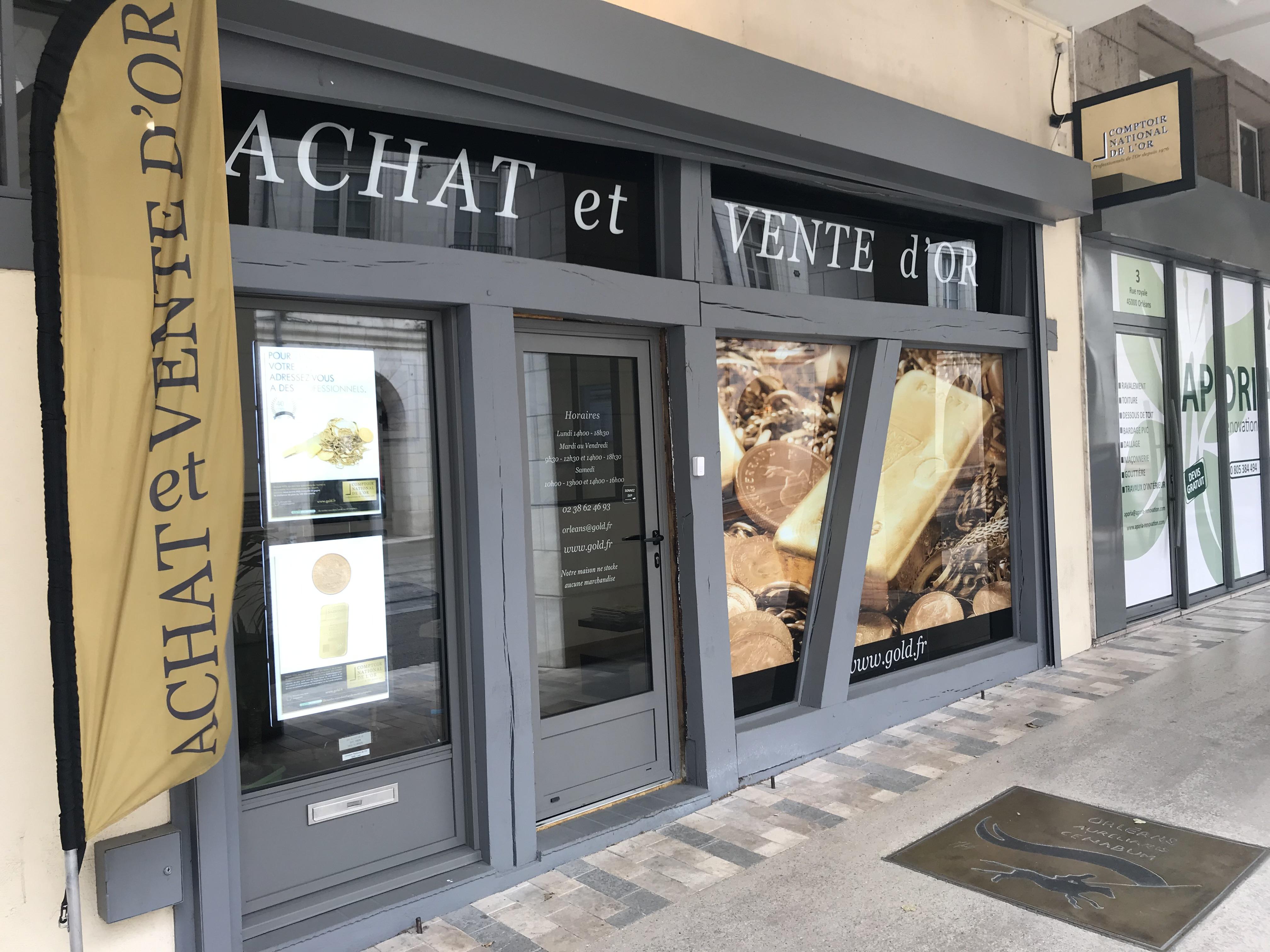 Nos meilleurs comptoirs d'achat d'Or à proximité de Saint-Denis-en-Val (45560)